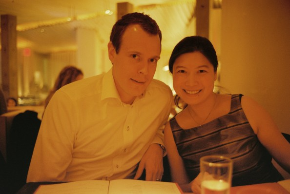 Haomiao&Niklas by night at Morimoto