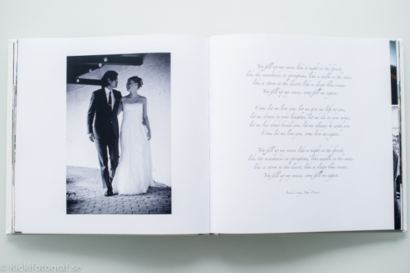 Exclusive handmade linen albums by a Swedish bookbinder